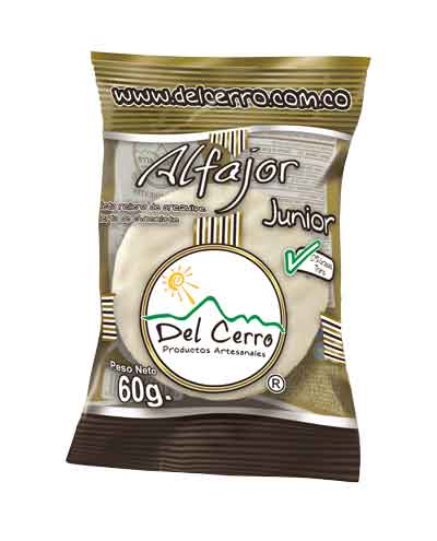 Alfajor Junior(60gr) Blanco x 16 Unidades