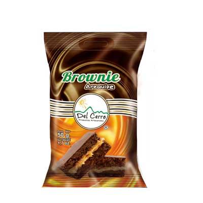 Brownie con arequipe 50gr x 15 Unidades